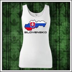 Dámske tielko Slovenská mapa so znakom