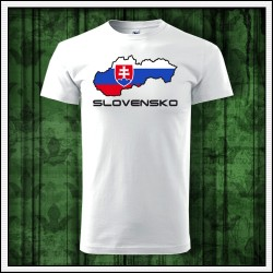 Unisex tričká Slovensko mapa