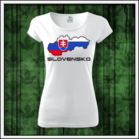 Dámske tričko Slovenská mapa
