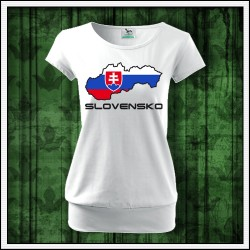 Dámske tričko so slovenskou mapou