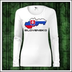 Dámske dlhorukávové trička so slovenským motívom