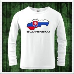 Detské 160g. dlhorukávové tričká Slovensko mapa