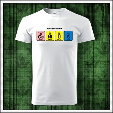 Humorné unisex tričko Genius