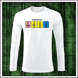 Vtipné pánske 180g. dlhorukávové tričká Genius
