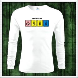 Vtipné pánske 160g. dlhorukávové tričká Genius