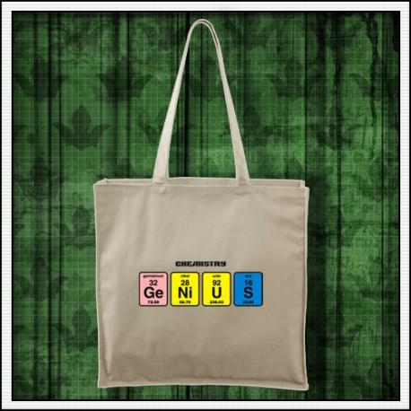 Vtipná prírodná taška Genius