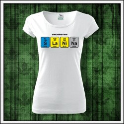 Vtipné dámske tričká Slanina