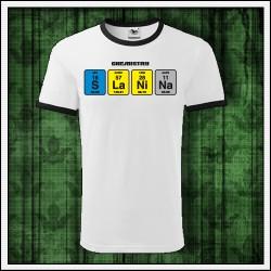 Vtipné unisex dvojfarebné tričká Slanina