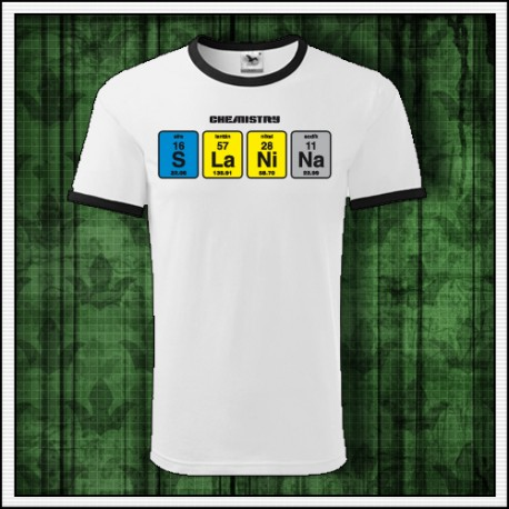 Vtipné unisex dvojfarebné tričko Slanina