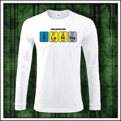 Vtipné pánske 180g. dlhorukávové tričká Slanina
