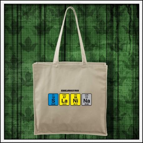 Vtipna taška s potlačou Slanina