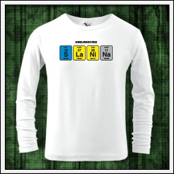 Vtipné detské 160g. dlhorukávové tričká Slanina