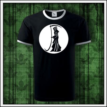 Unisex dvojfarebné svietiace tričko Smrťka s kosou