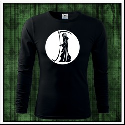 Pánske dlhorukávové svietiace tričká so smrťou