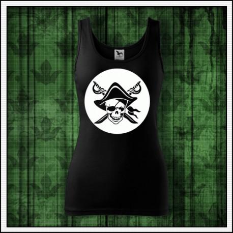 Damske piratske tielko svietiaca potlac