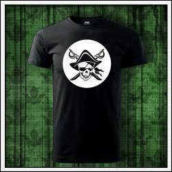 Unisex svietiace tričko Pirát lebka
