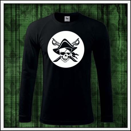 Pirátske svietiace tričká Pirát lebka, darček pre piráta