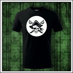 Detské svietiace tričko Pirát lebka