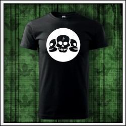 Unisex svietiace tričko Lebky