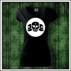 Dámske svietiace tričko Lebky