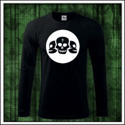 Pánske 180 g. dlhorukávové svietiace tričko Lebky