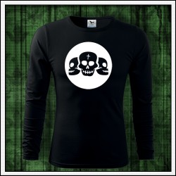Pánske 160g. dlhorukávové svietiace tričko Lebky