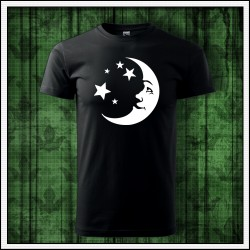 Unisex svietiace tričko Mesiac