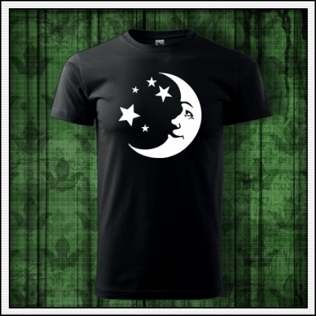Unisex svietiace tricko Mesiac a hviezdy