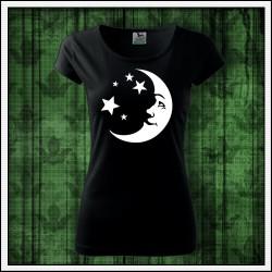 Dámske svietiace tričko Mesiac