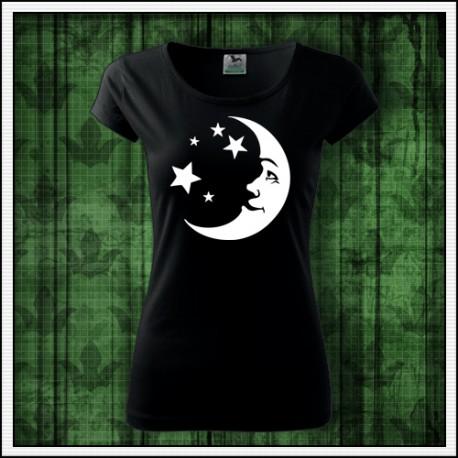 Dámske svietiace tričká s Mesiacom