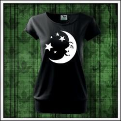Dámske svietiace tričko s patentom Mesiac