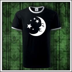 Unisex dvojfarebné svietiace tričko Mesiac