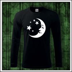 Pánske 180 g. dlhorukávové svietiace tričko Mesiac