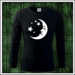 Pánske 160g. dlhorukávové svietiace tričko Mesiac