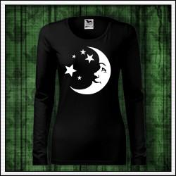 Dámske dlhorukávové svietiace tričko Mesiac