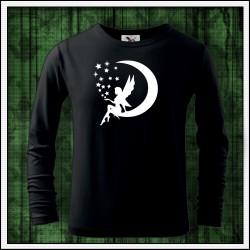 Detské 160g. dlhorukávové svietiace tričko Víla