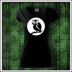 Dámske svietiace tričko Sova, symbol ochrany a odvahy