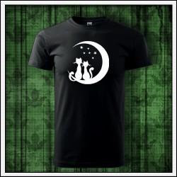 Unisex svietiace tričko Mačky