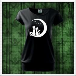 Dámske svietiace tričko s patentom Mačky