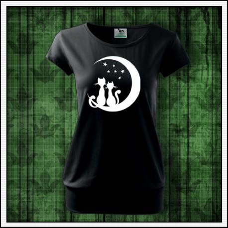 Dámske svietiace mačacie tričká