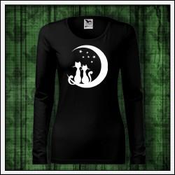 Dámske dlhorukávové svietiace tričko Mačky