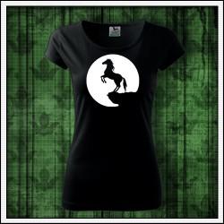 Dámske svietiace tričko Kôň