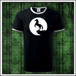 Unisex dvojfarebné svietiace tričko Kôň