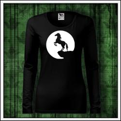 Dámske dlhorukávové svietiace tričko Kôň