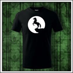 Detské svietiace tričko Kôň