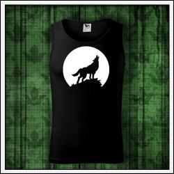Pánske svietiace oblečenie s motívom vlka