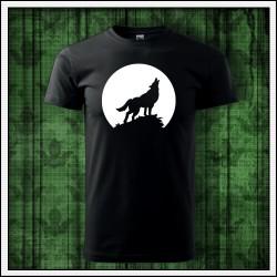Unisex svietiace tričko Vlk
