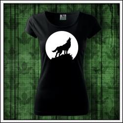 Dámske svietiace tričko Vlk