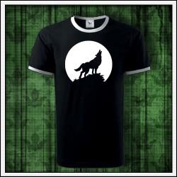 Unisex dvojfarebné svietiace tričko Vlk