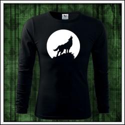 Pánske 160g. dlhorukávové svietiace tričko Vlk